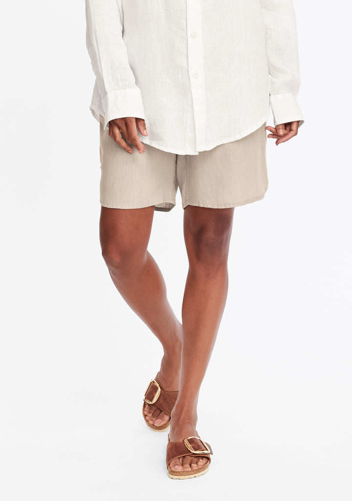 undershort linen shorts natural