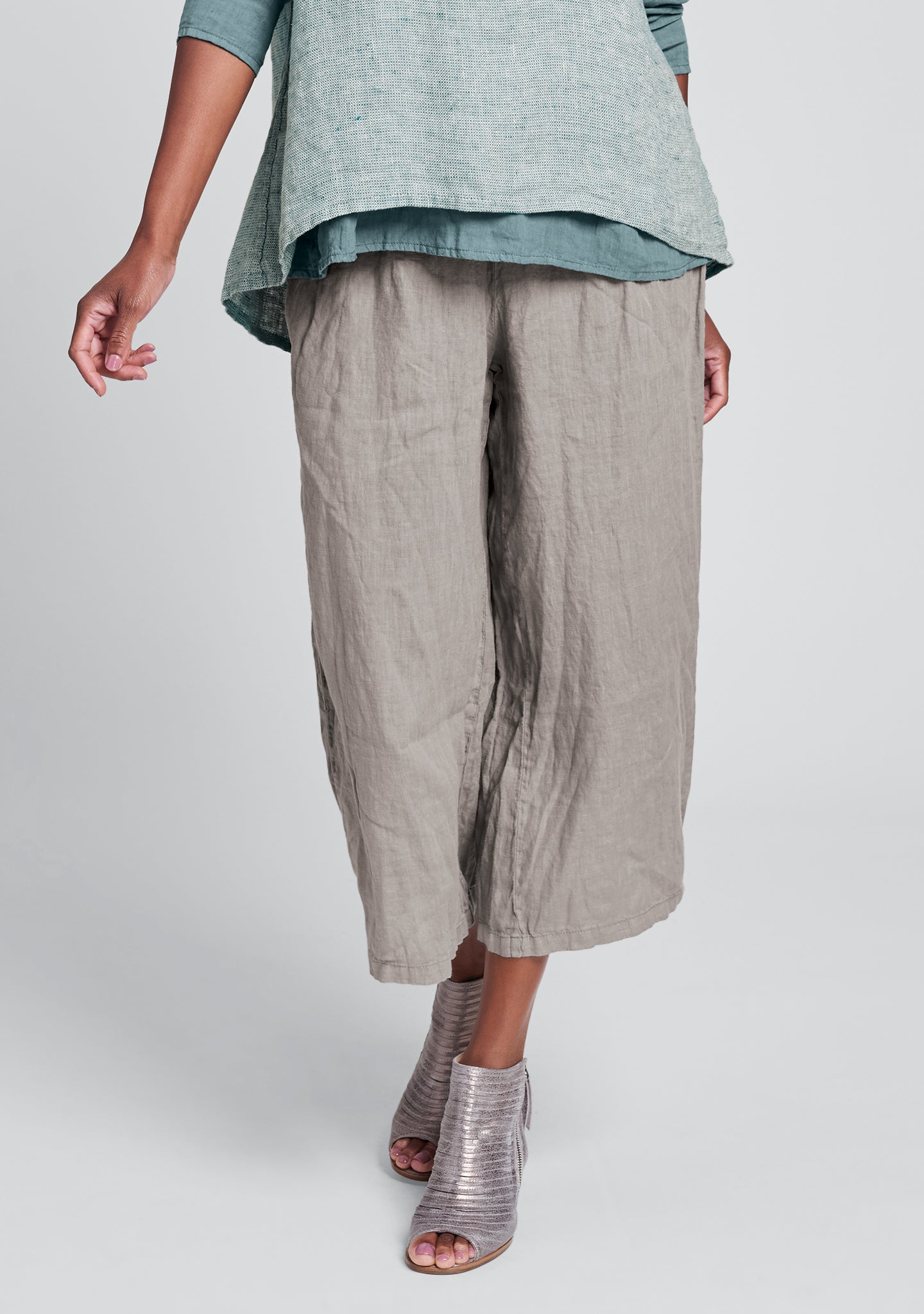 urban crop linen drawstring pants natural