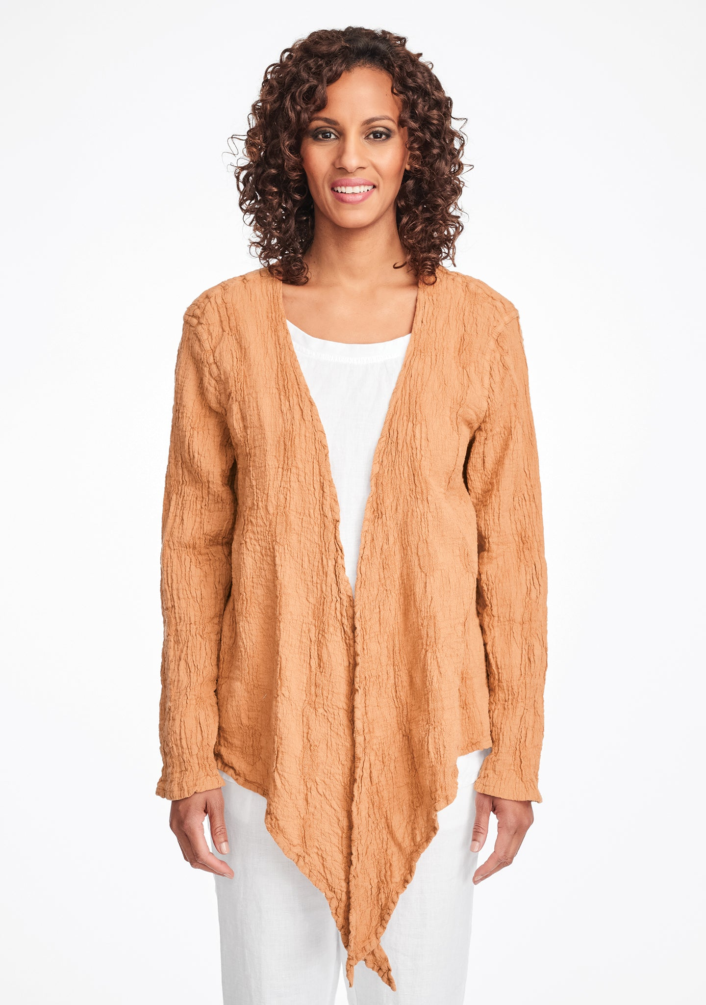 urban shrug linen cardigan orange