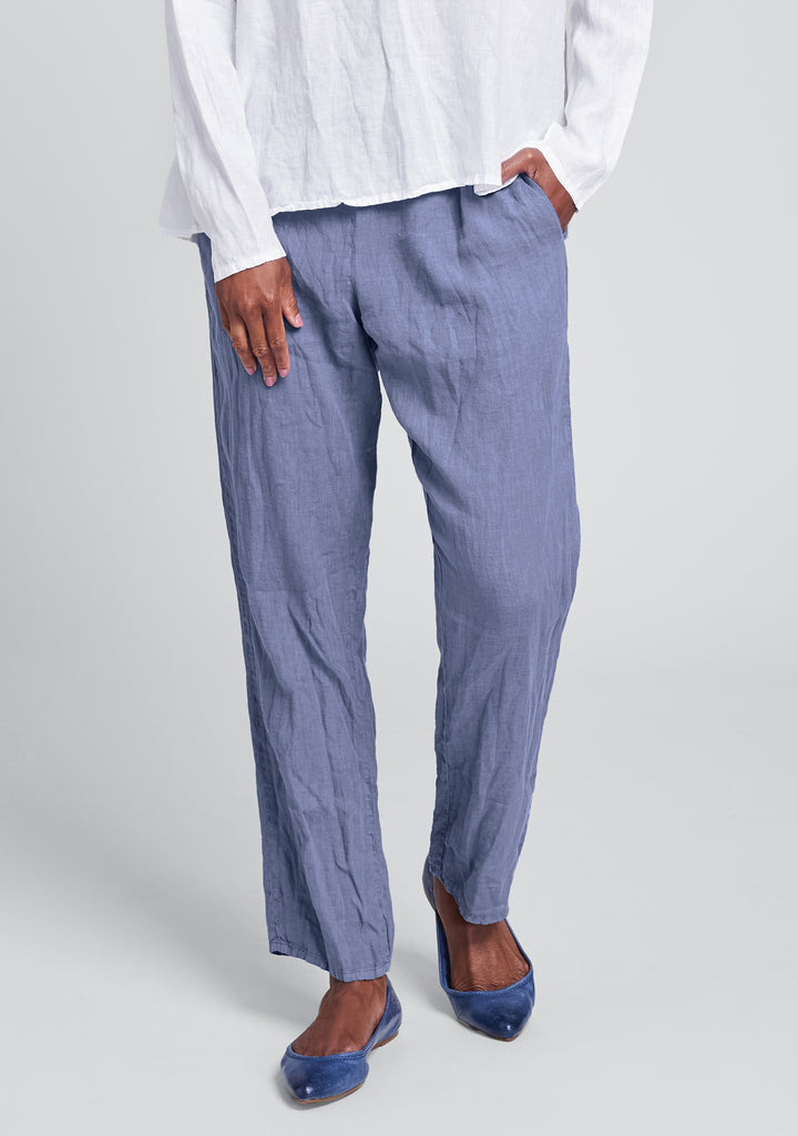 urban slims linen drawstring pants blue