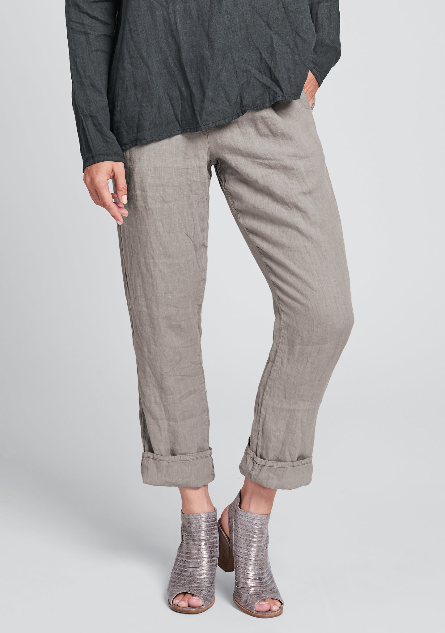 urban slims linen drawstring pants natural