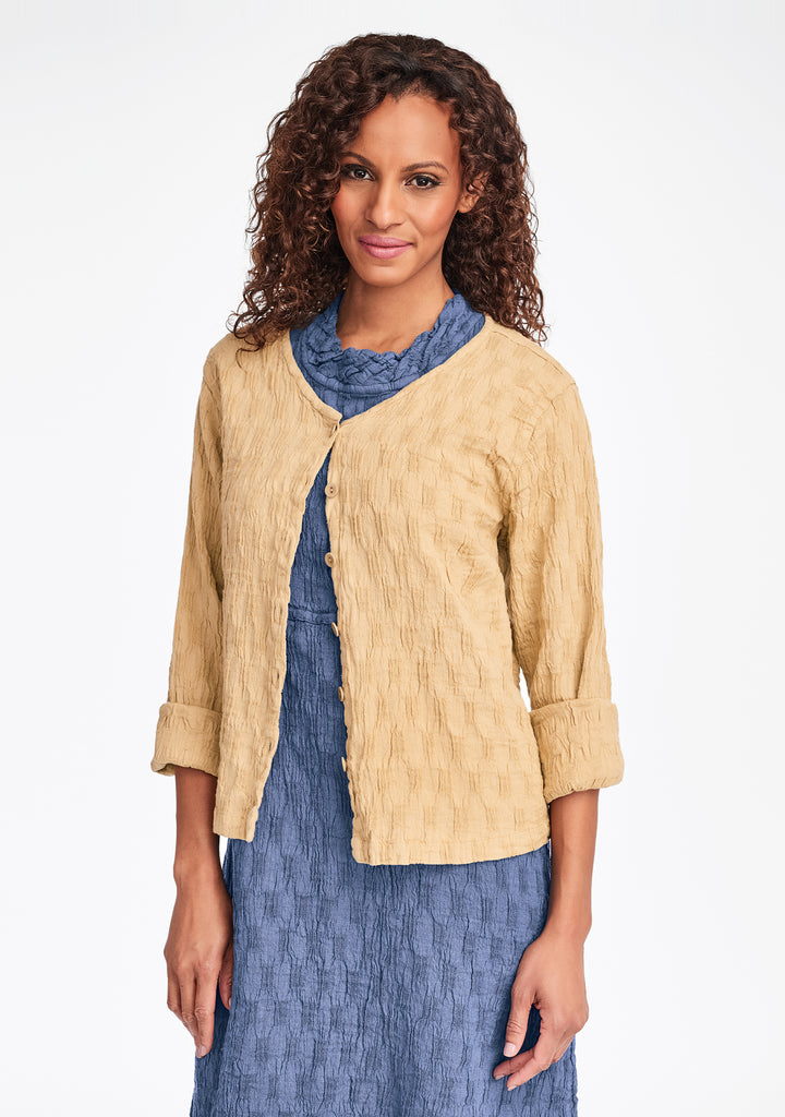 v neck cute cardi linen cardigan yellow