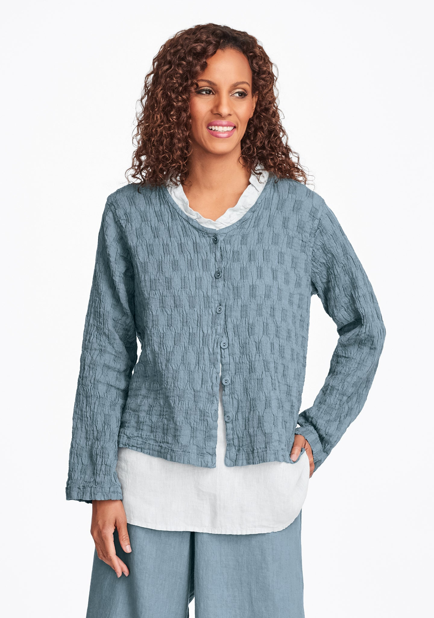 v neck cute cardi linen cardigan green