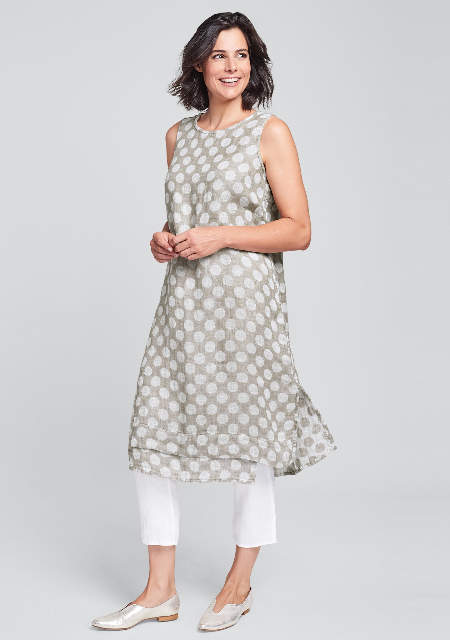 vancouver dress linen midi dress natural