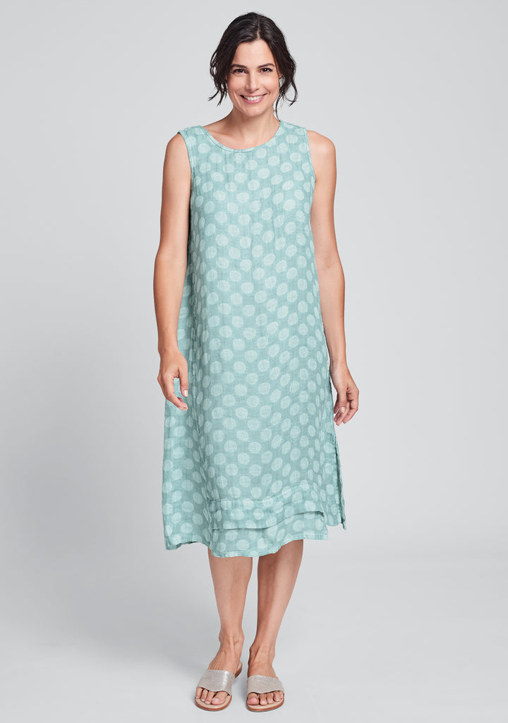 vancouver dress linen midi dress blue
