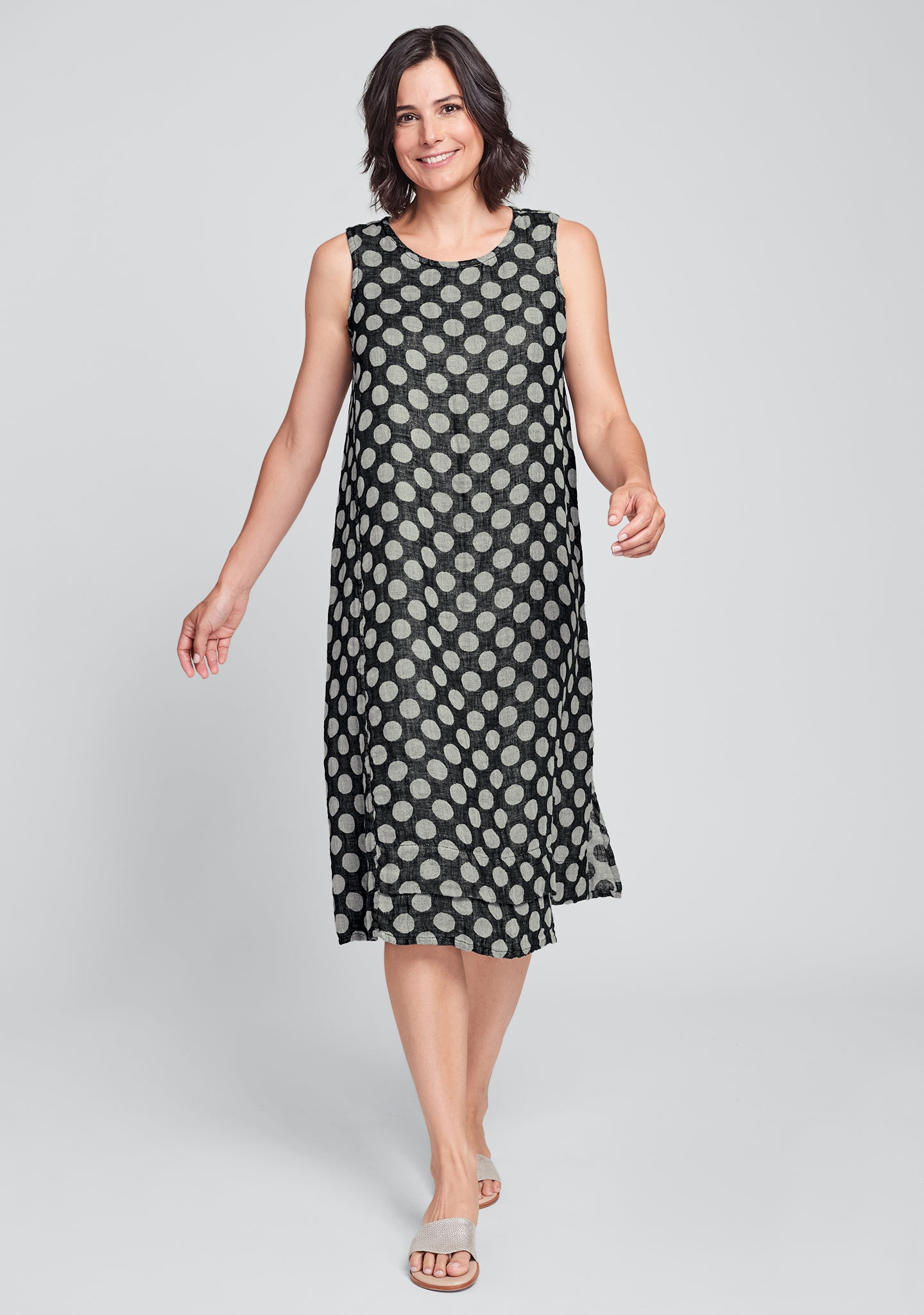 vancouver dress linen midi dress black