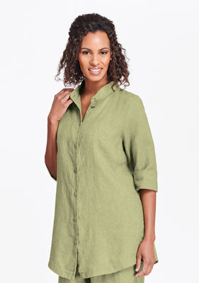 vintage shirt tunic green