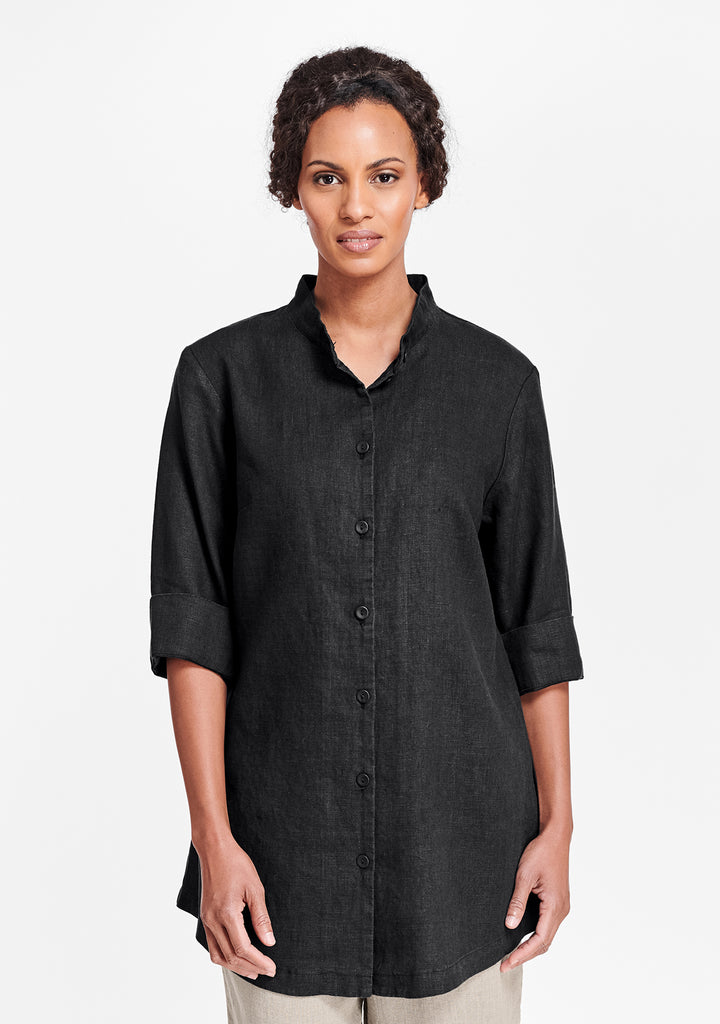 vintage shirt tunic black