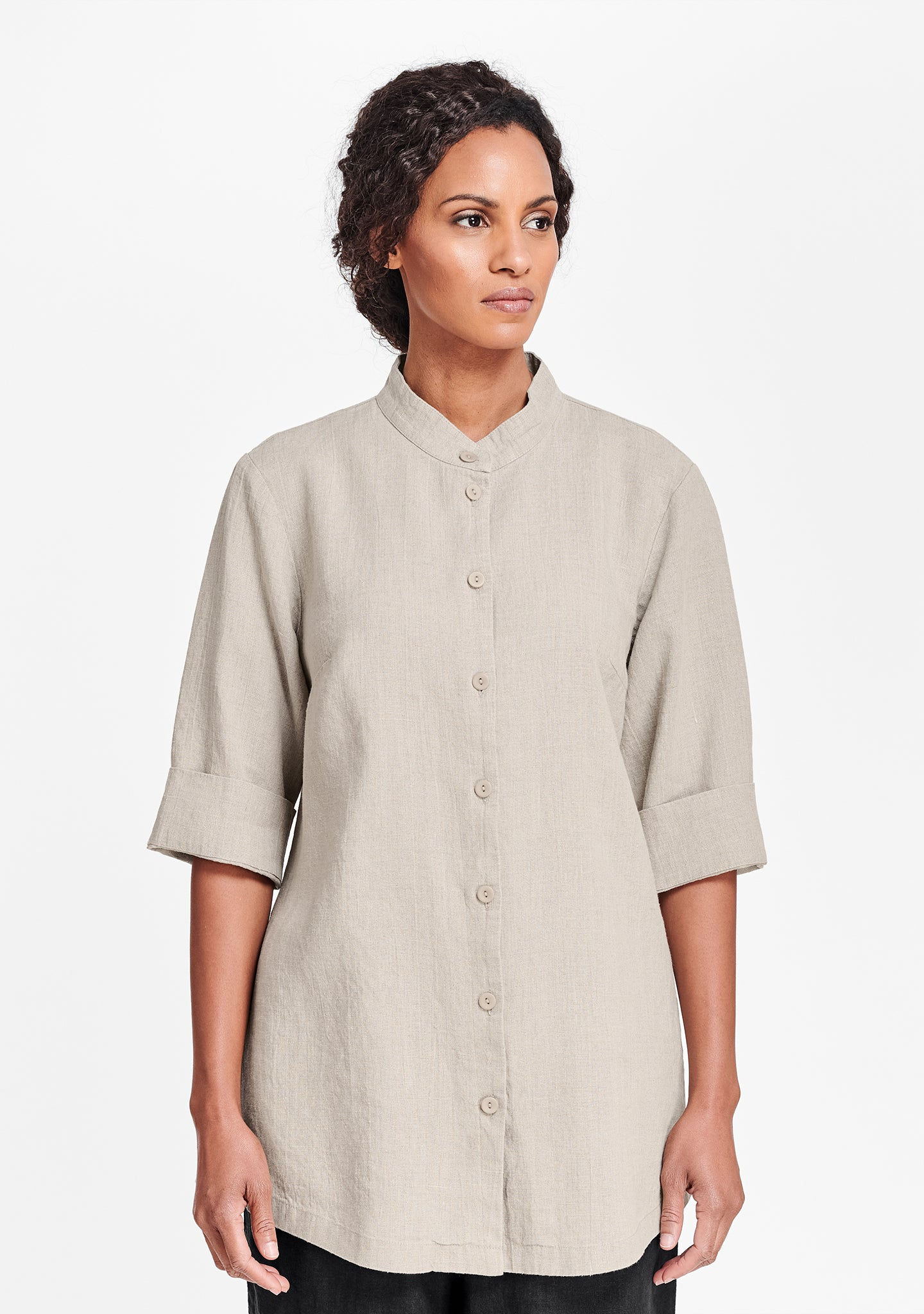 vintage shirt tunic natural
