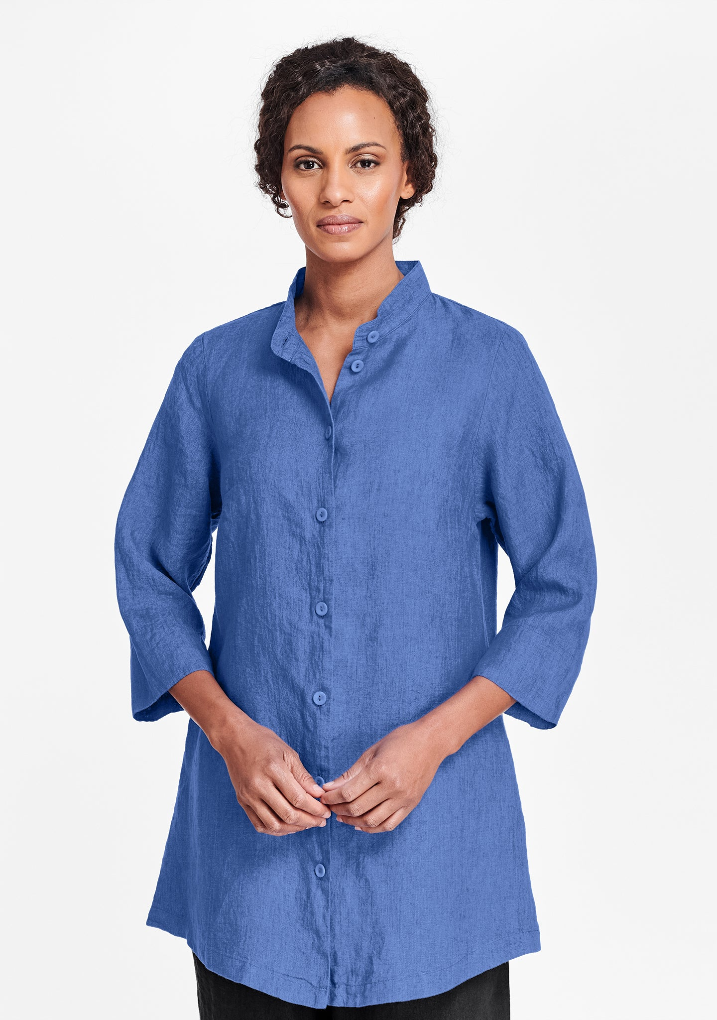 vintage shirt tunic blue