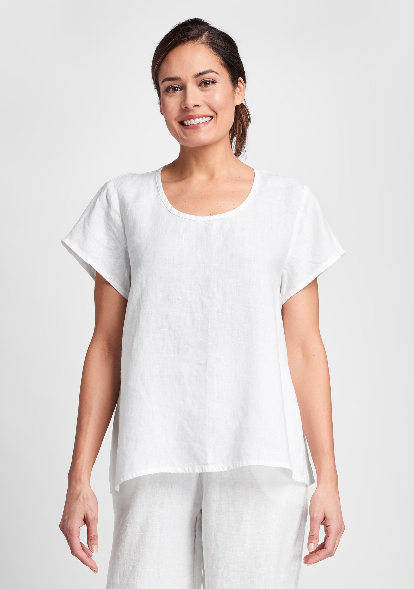 weightless tee linen t shirt white
