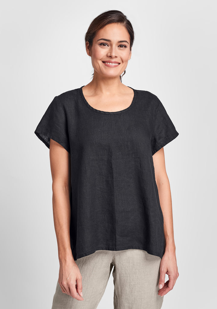 weightless tee linen t shirt black