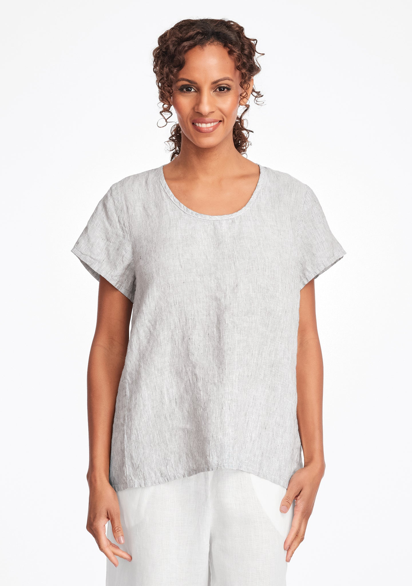 weightless tee linen t shirt grey
