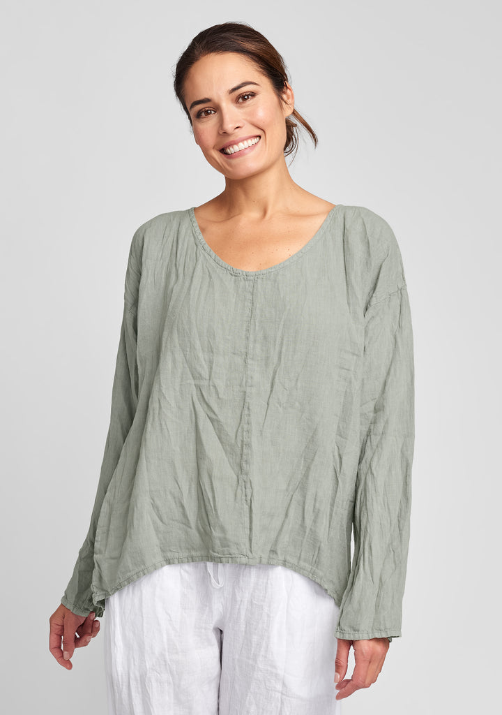 whisperer linen shirt green