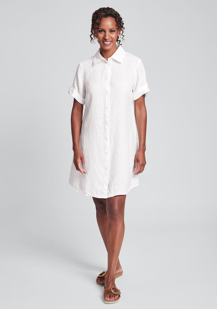 work shirt dress linen shirt dress white
