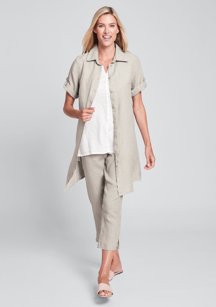 work shirt dress linen shirt dress natural