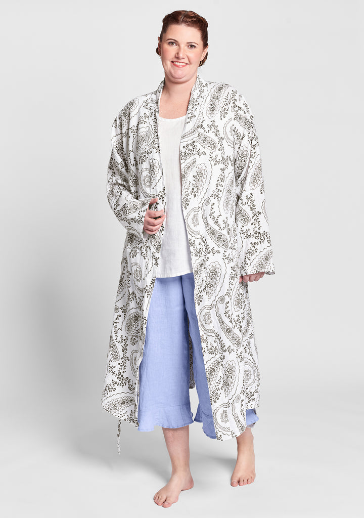 wrapper linen robe multi