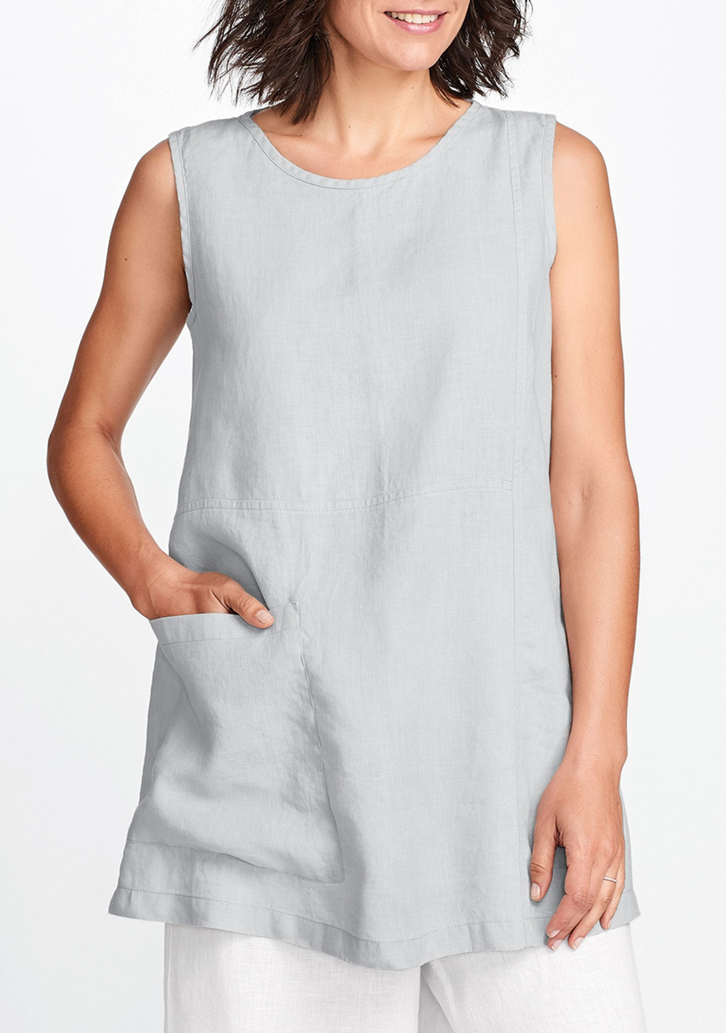 zinnia tunic grey