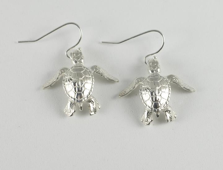 Sterling Silver Sea Turtle Hatchling Earrings