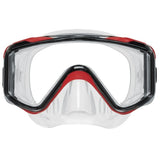 Crystal Vu Plus Mask, Clear Skirt, Red Frame, No Purge