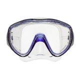 Flux Mask, Clear Skirt, Blue Frame