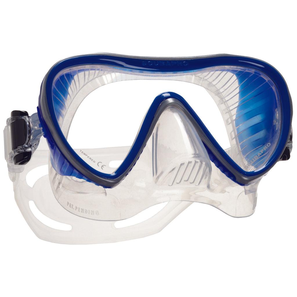 Synergy 2 Trufit Mask, Clear Skirt, Blue Frame