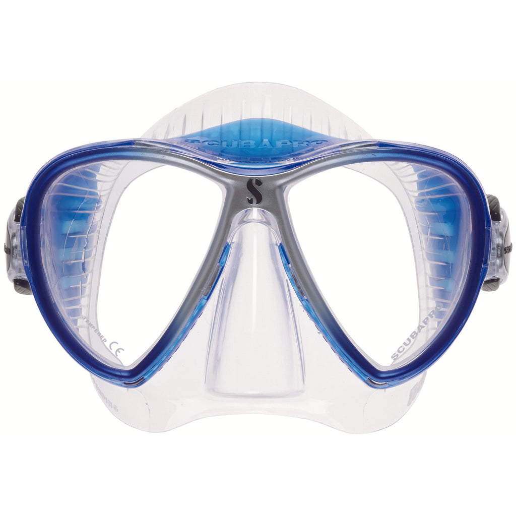 Synergy 2 Twin Trufit Mask, Clear Skirt, Blue Frame