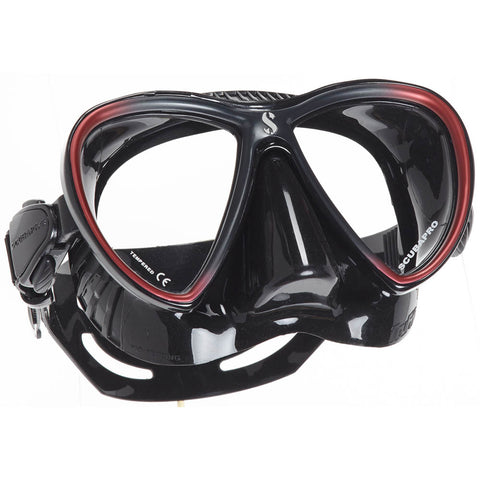 Synergy Twin Trufit Mask, Black Skirt, Red Frame