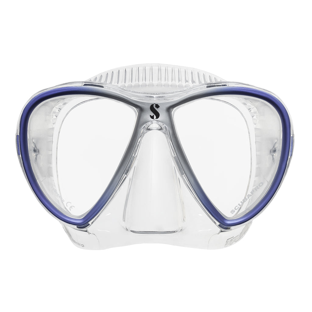 Synergy Twin Trufit Mask, Clear Skirt, Blue Frame
