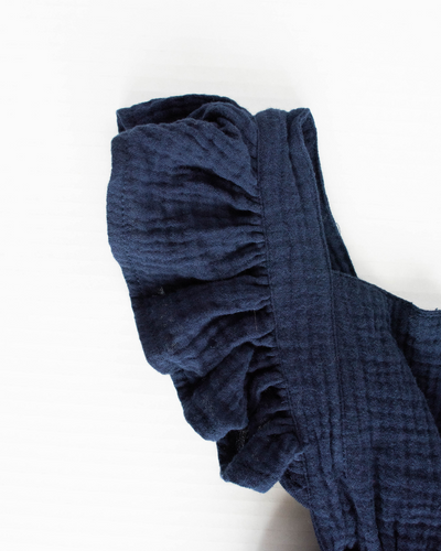 Victoria Ruffle Back Suspender Dress - Navy Blue - Bailey's Blossoms