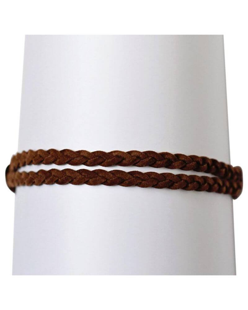 Double Braided Leather Headband - Bailey's Blossoms