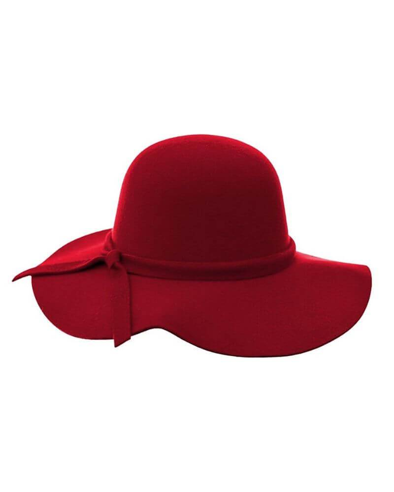 Audrey Floppy Hat - Red
