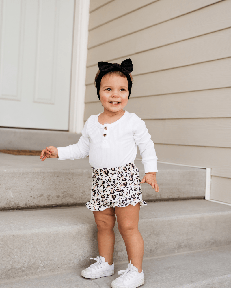 Belle High Waist Bloomer - Snow Leopard