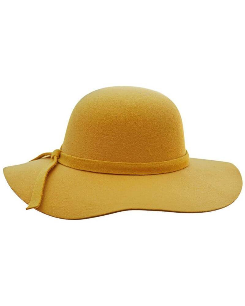 Audrey Floppy Hat - Mustard - Bailey's Blossoms