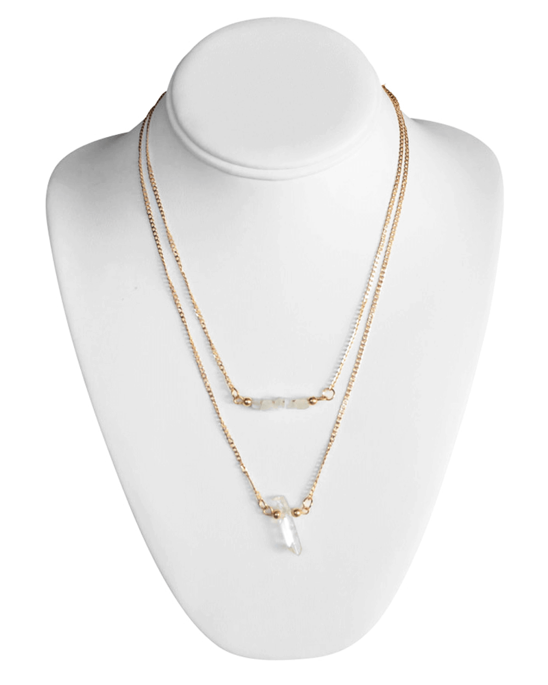 DOUBLE GOLD CHAIN NECKLACE - Bailey's Blossoms