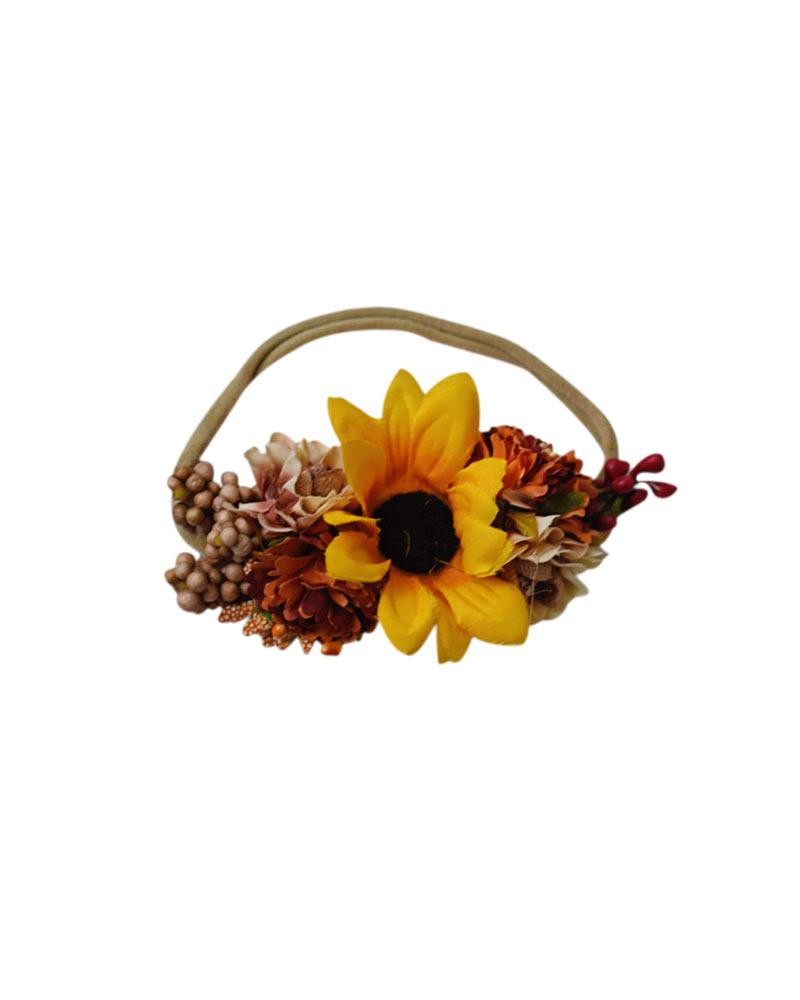 Floral Stretch Headband - Sunflower - Bailey's Blossoms