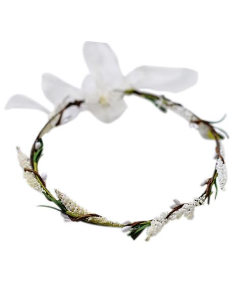 Babies Breath Floral Headpiece - Ivory - Bailey's Blossoms