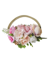 Floral Stretch Headband - Pink - Bailey's Blossoms