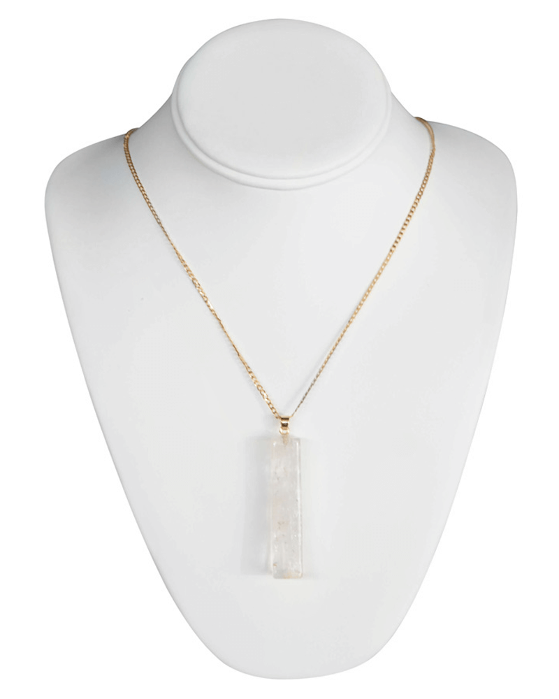 IVORY BLOCK NECKLACE - Bailey's Blossoms