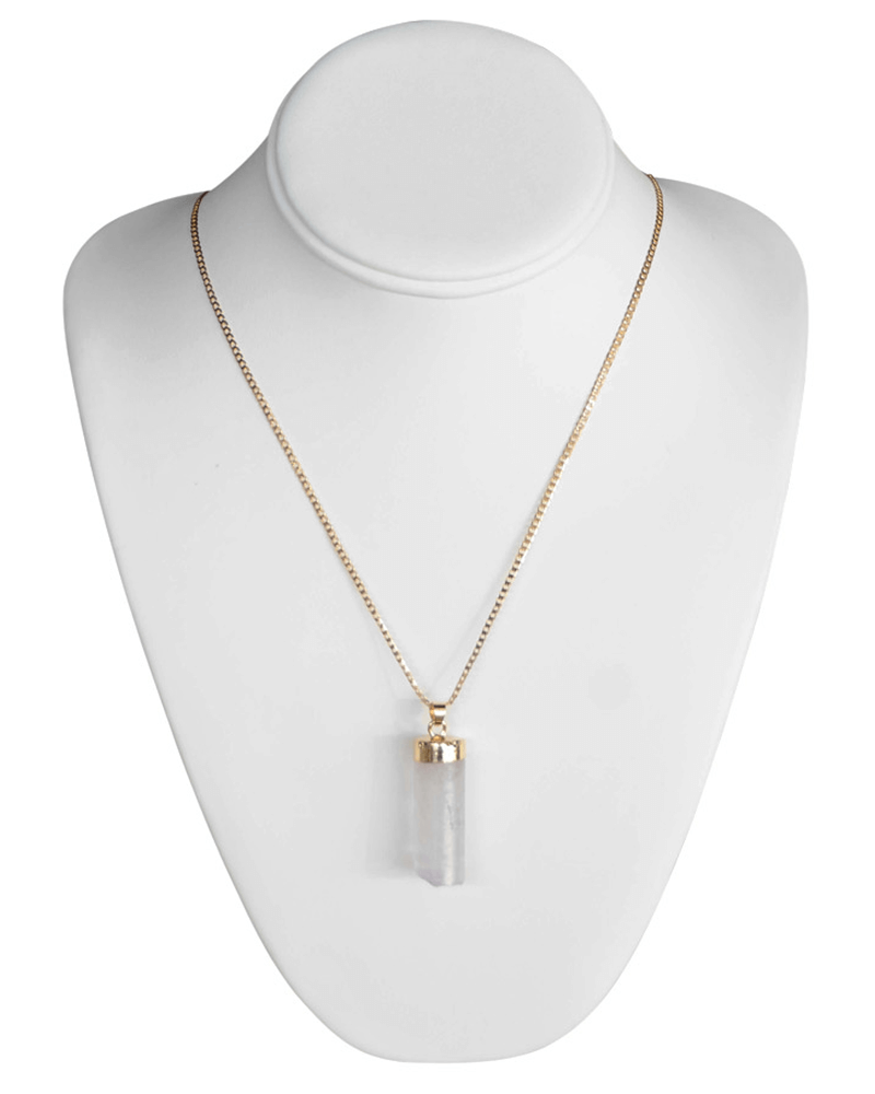 IVORY CYLINDER STONE NECKLACE - Bailey's Blossoms