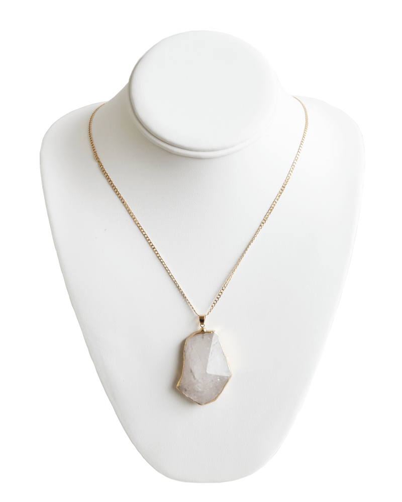 IVORY PYRAMID STONE NECKLACE