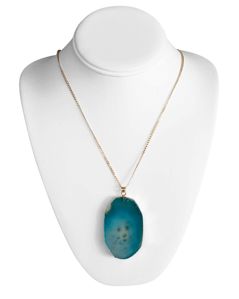 TURQUOISE STONE NECKLACE - Bailey's Blossoms