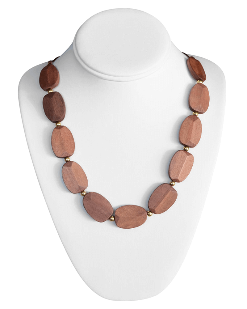WOOD BEADED NECKLACE - Bailey's Blossoms