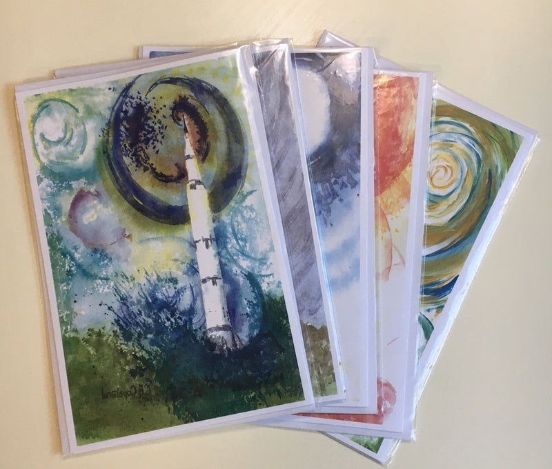 Rocket Greeting Cards