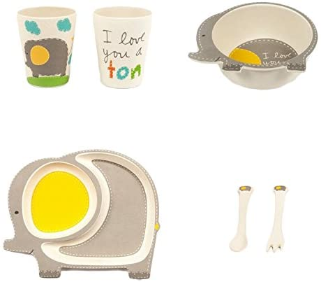 """Elly the Elephant"" Plate, Cup, Bowl & Utensil Set"