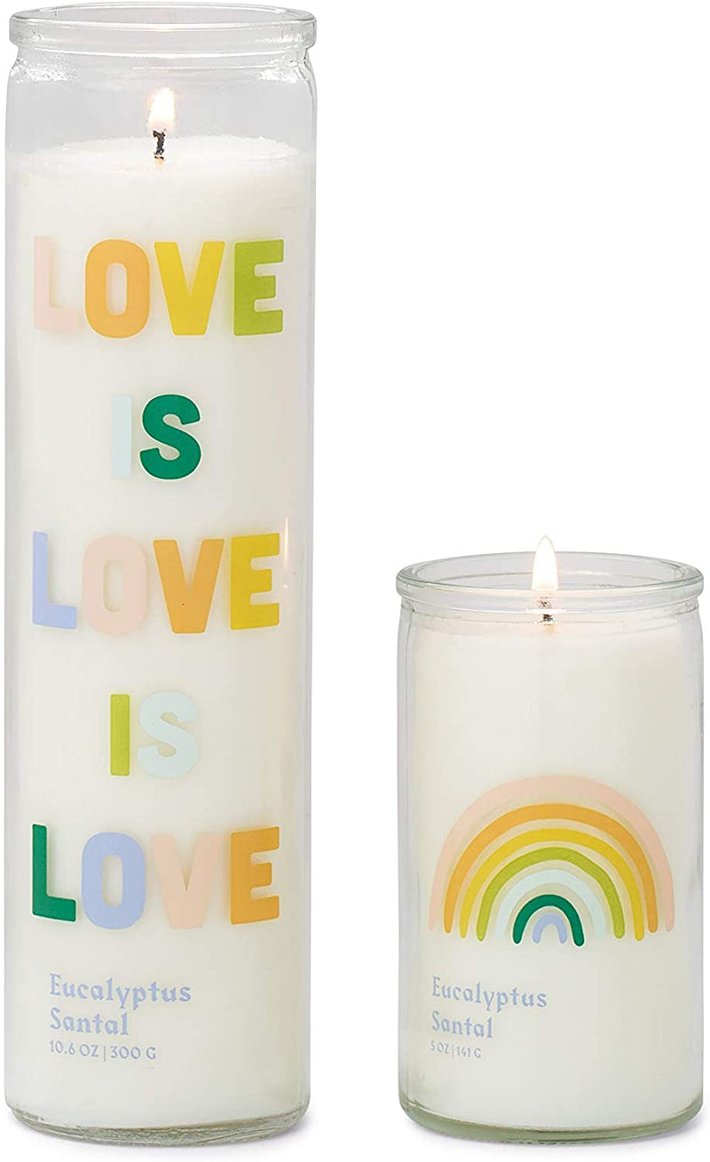 """Love Is Love"" Eucalyptus Santal Candle"