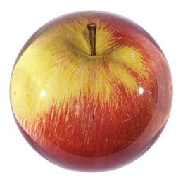 "John Derian ""Red Apple "" Dome Paperweight"