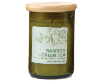 Bamboo & Green Tea Upcycled ECO Candle - The Little Green Store and Gallery