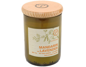 Mandarin Lavender Upcycled ECO Candle - The Little Green Store and Gallery