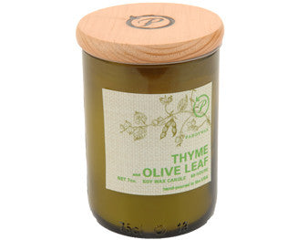 Thyme & Olive Leaf Upcycled ECO Candle - The Little Green Store and Gallery